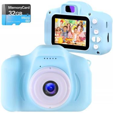 Imagem de NINE CUBE Kids Câmera Digital Câmera digital para meninas de 3-10 anos de idade, crianças brinquedos gravador de vídeo 1080P 2 polegada, crianças câmera aniversário festival presente para 3 4 5 6 7 8 meninos de 9 anos (32G SD Card Incluído)
