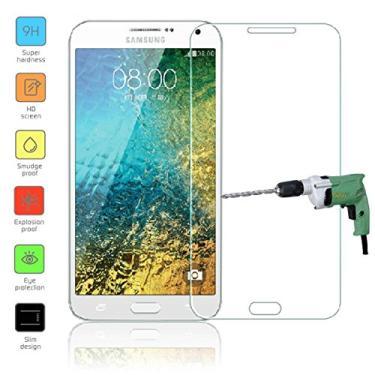 [2 unidades] Película protetora de tela para Samsung Galaxy E7, vidro temperado transparente, protetor de tela resistente a arranhões para Samsung Galaxy E7 E700