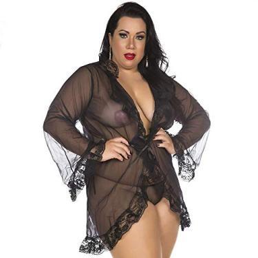 Hobby Robe Camisola Plus Size Tentação Transparênte