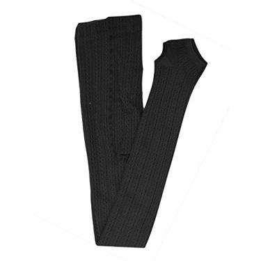 Imagem de Bestgift – Calça legging feminina elástica com mistura de algodão, Preto, tamanho �nico