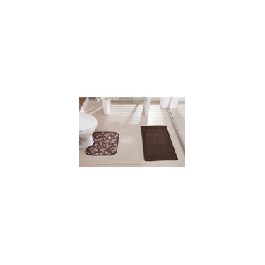 Imagem de Conjunto Tapetes para Banheiro 2 peças Antiderrapantes Floor
