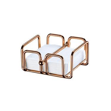 Imagem de Porta Guardanapos Tamanho Pequeno Rosé Gold 1193RG Aramados Future