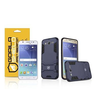 Kit Capa Armor e Película de Vidro Dupla para Samsung Galaxy J3 Gorila Shield