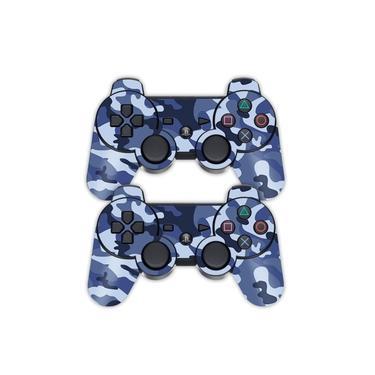 Adesivo Pra Controle Ps3 Camuflado Azul - Não É Controle