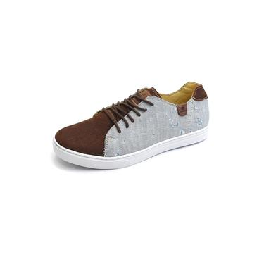 Sapatênis Tênis Casual Couro Destroyed Jeans Rigel Gshoes - 1150 - Terra Jeans