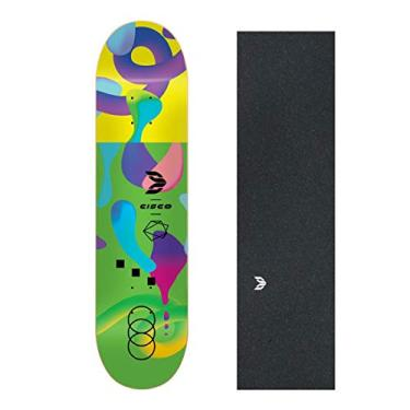 "Shape Cisco Skate Fiber Decks Neon Green 8.125"""
