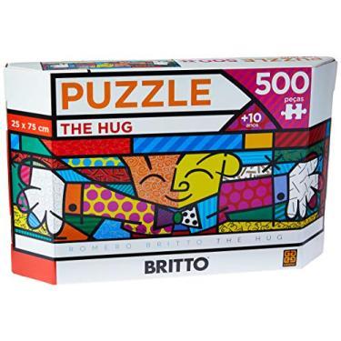 Imagem de Grow - Panorama Romero Britto The Hug Puzzle 500 Peças, Multicolorido, (Grow 3401)