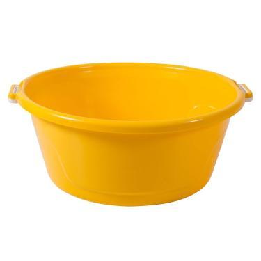 Bacia de Plástico com Alças 25L BAC25 Astra Amarelo