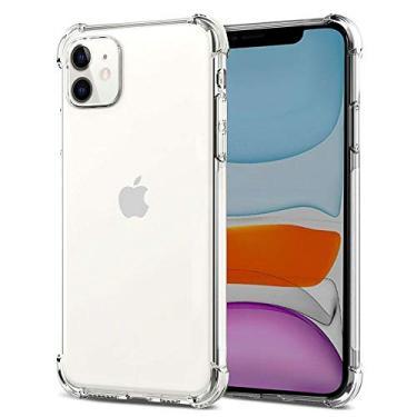 """Kit Capa Case Anti Quedas Impactos iPhone 11 6.1"""" + Película Vidro Temperado, Case-Friendly"""