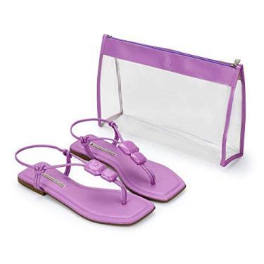Rasteira Kit Make Bag Napa Tathi Violeta 35