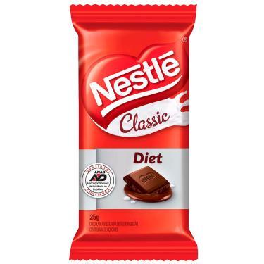 Chocolate ao Leite Nestlé Classic Diet 25g