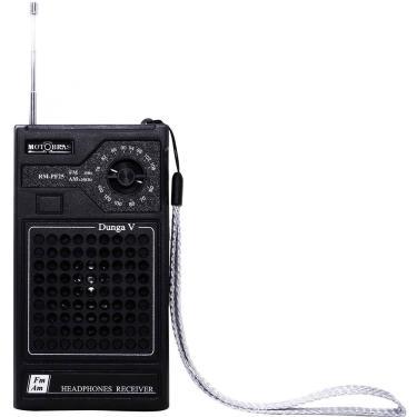 Rádio Portátil Motobras Rmpf25, Am/Fm, Entrada Para Fone De Ouvido - Preto