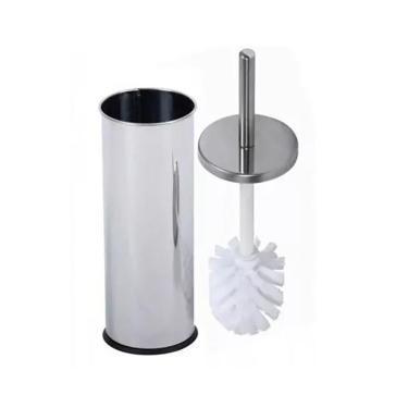 Escova Sanitária Para Banheiro Luxo Com Suporte Em Inox
