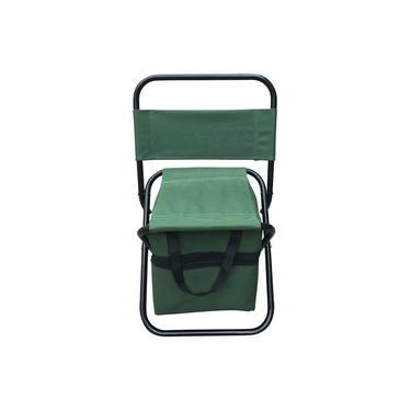 Cadeira Camping Pesca com Bolso Verde Importway