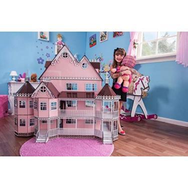 Imagem de Casa de Bonecas Escala Polly Mansão Ashley Princesa - Darama