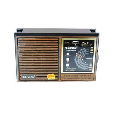Rádio Recarregável Portátil Am Fm Usb Sd Livstar CNN 2730