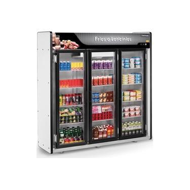 Refrigerador/Expositor Vertical Auto Serviço Frios e Laticínios 3 Portas ASFL Plus Refrimate