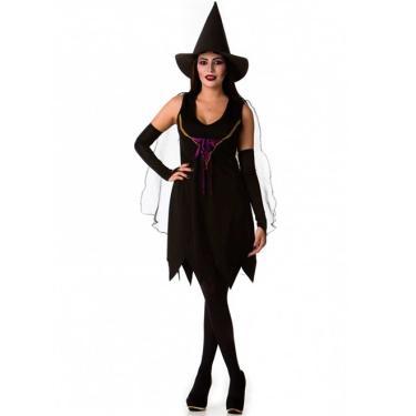 0e739dfe7 Fantasiascarol Comprar · Fantasia de Bruxa de Halloween Adulto Completo 36  Até 50 Chapéu - M 40 - 42