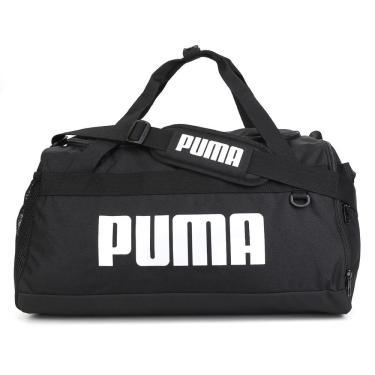 Mala Puma Challenger Duffel 076620-01, Cor: Preto/Branco, Tamanho: ÚNICO