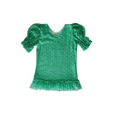 Vestido Infantil Ummi jungle em tule verde
