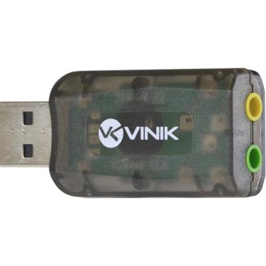 Adaptador Placa de Som USB 5.1 Canais Virtual AUSB51