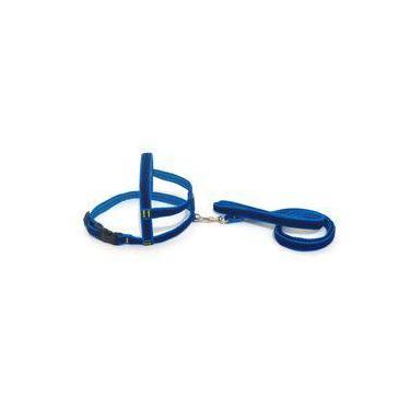 Conjunto Peitoral de Veludo liso azul tamanho 01