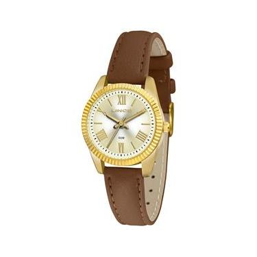 cacdc42a07a Relógio Feminino Analógico Lince LRC4509L-C3NX - Marrom