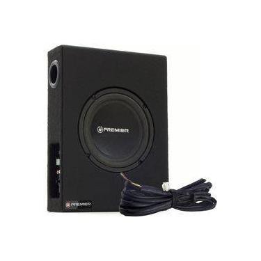 """Caixa Amplificada Ativa Slim Dutada Premier Audio Com 1 Subwoofer 8"""" - 280 Watts Rms Com Chicote"""