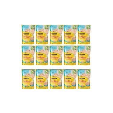 Caixa Sachê Para Gatos Filhotes Friskies peixe ao molho - Alimento úmido para gatos caixa 15 x 85g