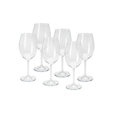 Jogo de Taças para Vinho 450ml 6 Peças - Cristal Bohemia