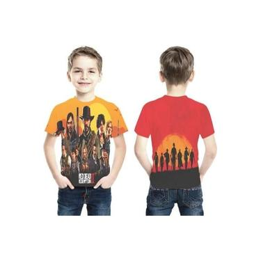 Camiseta Game Red Dead Redemption 2 Ref 097 Infantil