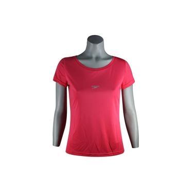 Camisa Feminina Speedo Interlock Uv50 Coral - Tam. M