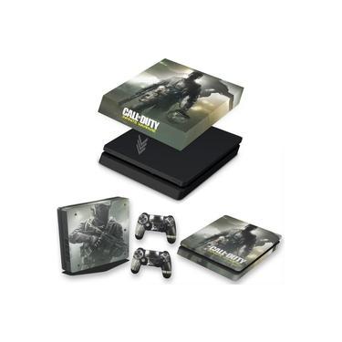 Capa Anti Poeira e Skin para PS4 Slim - Call Of Duty: Infinite Warfare