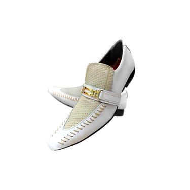 Sapato Masculino em Couro Branco Vancouver Cod: 467