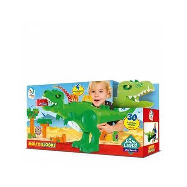 Baby Land Dino Jurássico 30 Blocos Original - Cardoso