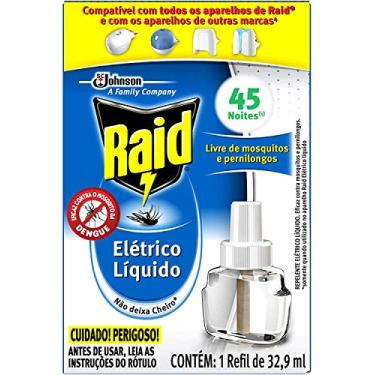 Repelente Elétrico Líquido Raid Refil 32,9 ml, 1 unidade
