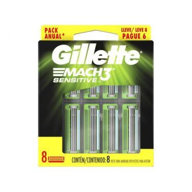 Imagem de Carga Gillette Mach3 Sensitive - 8 Unidades