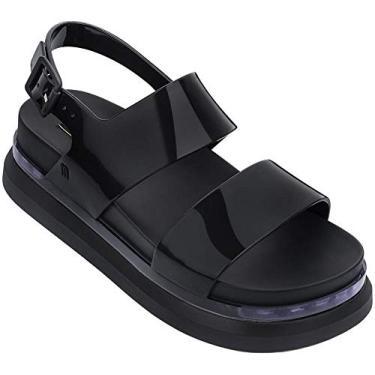 Sandália Cosmic feminina Melissa Shoes II, Clear Black, 6