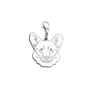 Dog A?o Inoxid¨¢vel Moda Imprimir Pet Cat Name Tags Anti-Lost Dog Bilhete de Identidade