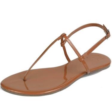 Sandália Rasteira Mercedita Shoes Verniz Caramelo Ultra Macia Anatômica AREIA, GELO, BORGONHA ,CARAMELO, LAVANDA, AZUL MARINHO, AZUL DENIN, MARSALA, OPALA, PRETO, UVA, VERDE ÁGUA, PRATA, DOURADA feminino
