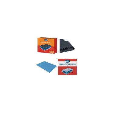 Imagem de Kit Capa + Forro Para Piscina Premium 2500 Litros - Mor