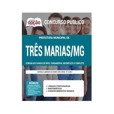 Imagem de Apostila Três Marias Mg - Cargos De Nível Fundamental