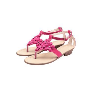 Sandália Infantil Raniel Calçados Gladiadora Salto Pink  menina