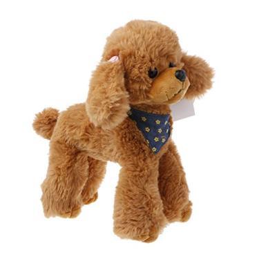 Imagem de Cachorros de pelúcia - Momu - Poodle High Simulation Presentes Infantis Boneca Cachecol de Pelúcia Adorável