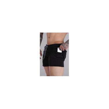 Imagem de Shorts Fitness 2 Em 1 - Dry Fit E Térmico De Compressão - Esportivo Para Corrida E Treino - Preto