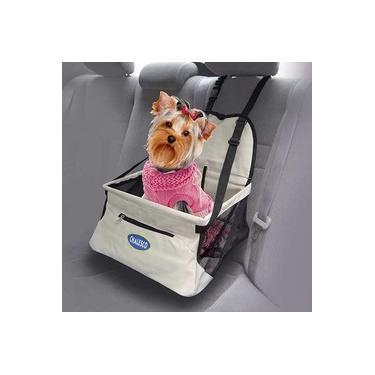 Cadeirinha de transporte para cachorro e gato Assento para Banco de Carro Car Seat Chalesco Nude