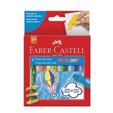 Giz de Cera Retrátil, Faber-Castell, Super Soft, 18.1401BB, 6 Cores