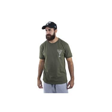 Camiseta Mlb New York Yankees Fashion Bat Verde Vinho Kaki New Era