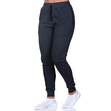 Calça Moletom Masculina Jogger Slim Fit Club 21 Cor:grafite;tamanho:g