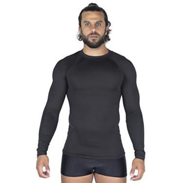 Blusa Térmica Masculina Camisa Proteção UV Compressão 037 (Preto, M)